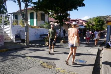 The streets in Terre de Haut, Les Saintes are enjoyable, especially when the hordes of tourists have left.